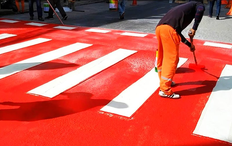 Newly painted zebra crossings in Pattaya
